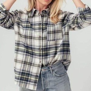 Busy Doing Cowgirl Things Flannel Shirt-Navy
